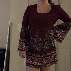 xhilaration long-sleeved dress